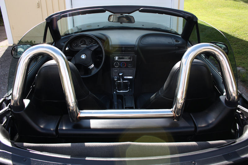 BMW Z3 STAINLESS POLISHED ROLL BAR / STYLE BAR | eBay